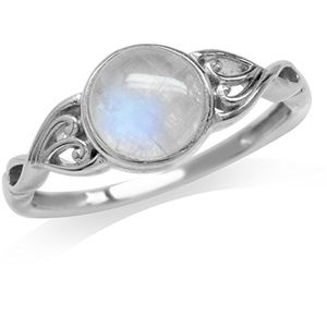 Jewelry - 100% Moonstone White Gold SterlingSilverVictorian
